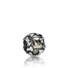 Encaixe Pandora Prata e Ouro Letra I 79298