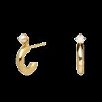 Brincos Pdpaola Anne Gold 1/2Argola Perola Cimo Torn AR01-061-U