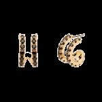 Brincos Pdpaola Nix Dourado 1/2 Argola Torn AR01-161-U