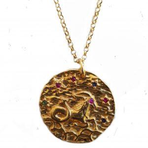Colar Havvah Dourado Signo Capricórnio Constelação Cor F00-1494D