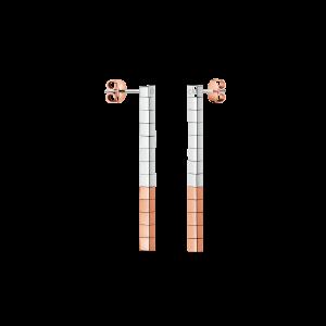 Brincos CALVIN KLEIN Tune E-Ring Bicolor SSt/PVD PO Pink KJ9MPE200100