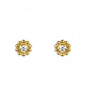 Brincos Romantis Zircon Rodeado Granitos Torn 1,6 OOTR001440