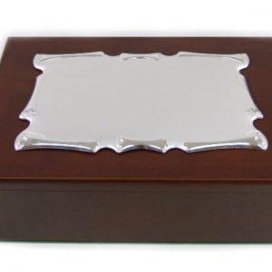 Caixa Pergaminho Madeira Encerada 14X11X5 A371/164