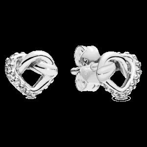 Brincos Pandora Knoted Herats Mãe 2019 298019CZ
