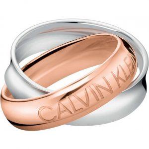 Aliança Calvin Klein Delight Bicolor SST/PVD Pink KJDFPR200106