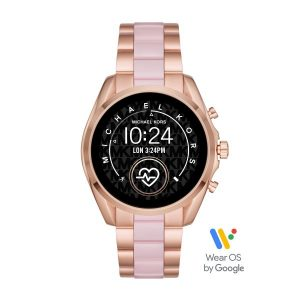 Relógio Michael Kors Wearables Smart Watch Bradshaw Ouro Rosa Elos Rosa MKT5090