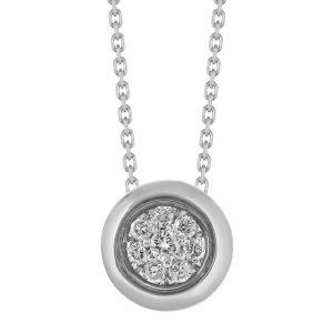 Colar Monseo Cosmopolitan com 8 diamantes lapidação brilhante CO2463A