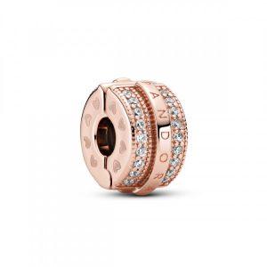 Encaixe Pandora Rose Lines & Logo Clip 789042C01