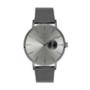 Relógio Gant Park Hill Heritage Mostrador Cinza Bracelete Mesh Titanium G105015