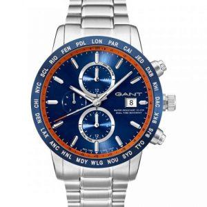 Relógio Gant Globetrotter Chrono Steeel Full Blue DialMtl W11106