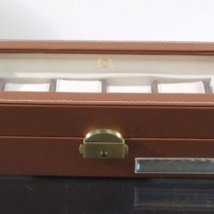 Estojo Para Colecionadores 6 Relógios Pele Camel A371/157