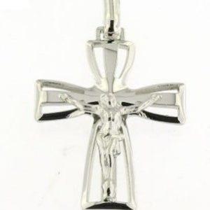 Cruz Com Cristo Aberta Pontas Alargadas A092044