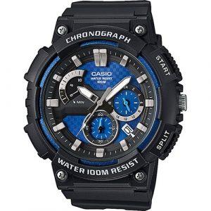 Relógio Casio 100m Preto/Azul MCW-200H-2AVEF