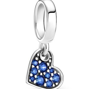 Encaixe Pandora Coração Zircónias Azul Stella Blue 799404C01