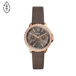 Relógio Fossil Izzy Rose Gold Brown Leather ES4889