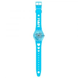 Relógio Swatch Love From A to Z Azul Mãe 2021 GZ353
