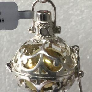 Berloque Chamador Anjos Bicolor Arabesco Lanterna 2cm PHB034