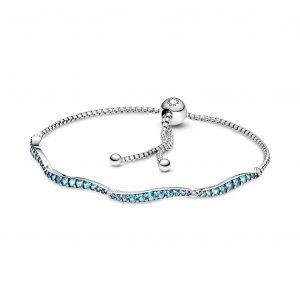 Pulseira Pandora Blue Wazy 599436C01-1