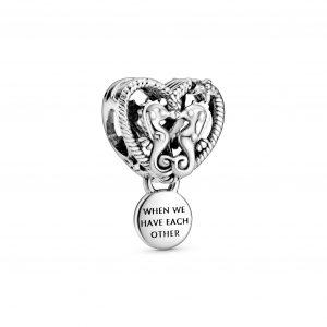 Encaixe Pandora Seahorses Heart Pingente 798949C00