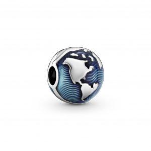 Encaixe Pandora Fixador Blue Globe Esmalte 799429C01
