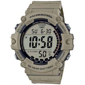 Relógio Casio Collection Digital Caqui WR100M 5 Alarmes AE-1500WH-5AVEF