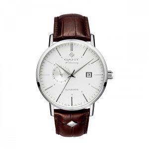 Relógio Gant Park Hill Automático, 43, Branco, Pele Castanha G102001