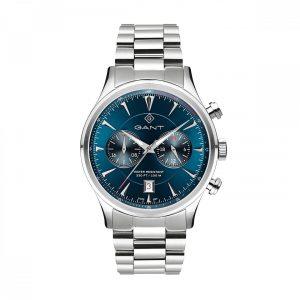 Relógio Gant Spencer 43 Dual Time M. Azul T. Aço G135003