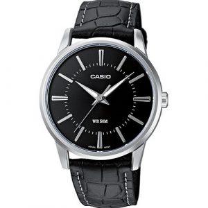 Relógio Casio WR50M P.Pele Preta MTP-1303PL-1AVEF