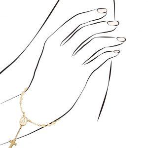 Pulseira Eugénio Campos Dourada Dezena Chapinhas Sra. Graças 103.A199.D.0.00