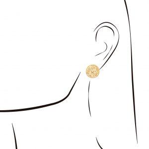 Brincos Eugénio Campos Dourado Myth Círculo Zirconia 114.A352.D.1.00