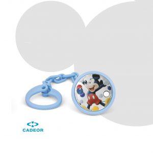 Porta-Chupetas PVD Mickey Balões Esmlate A38157DN/C