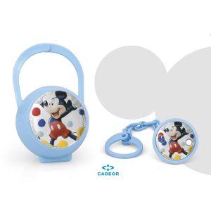Conjunto Malote e Porta-chupeta Mickey Azul Esmalte A38158DN/C