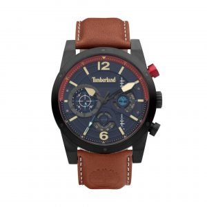 Relógio Timberland Holyyoke M.Azul Pele Castanha TDWGF2100003