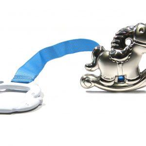 Porta-Chupeta Cavalo Baloiço Fita Azul 7696AZ4106