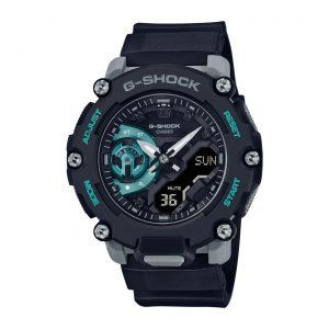 Relógio Casio Anadigi Preto e Cinza Promenor Menta GA-2200M-1AER