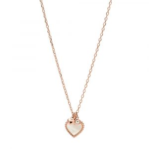 Colar Fossil I Heart You Rose Gold JF03694791