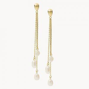 Brincos Fossil Fresh Pearl Linear Gold JF03806710